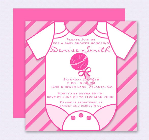 Pink Onesie Baby Shower Invitation U2013 Editable Template  Free Downloadable Baby Shower Invitations Templates