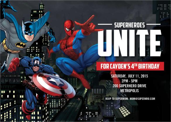 26 Superhero Birthday Invitation Templates Free Sample Example – Free Printable Superhero Birthday Party Invitations