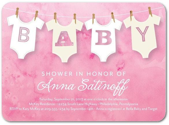wonderful onesie heather baby shower invitation