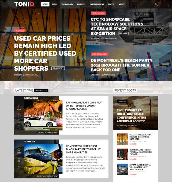 magazine wordpress blog theme
