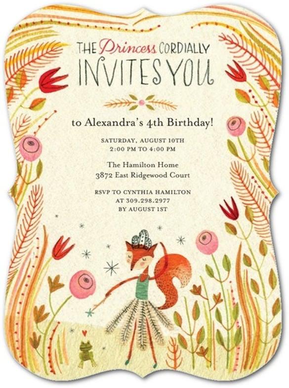 royal invite yogurt birthday party invitation