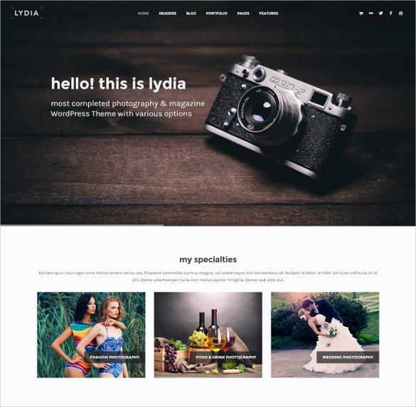 photography magazine wordpress theme