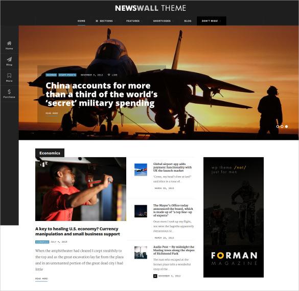 fresh newswall magazine wordpress theme