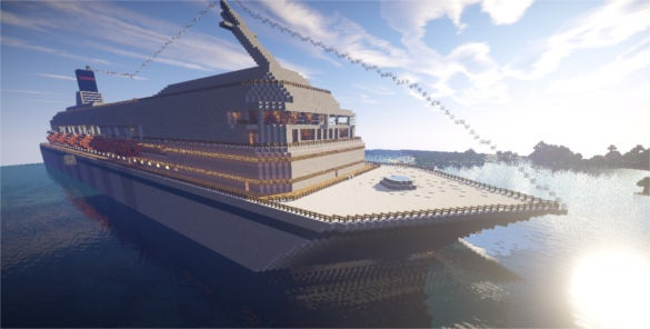 costa concordia minecraft background