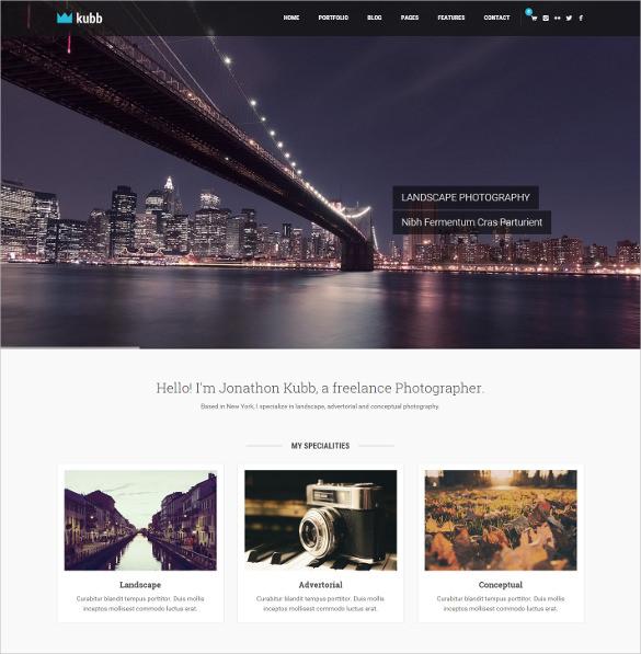 beautiful photography magazine wordpress template
