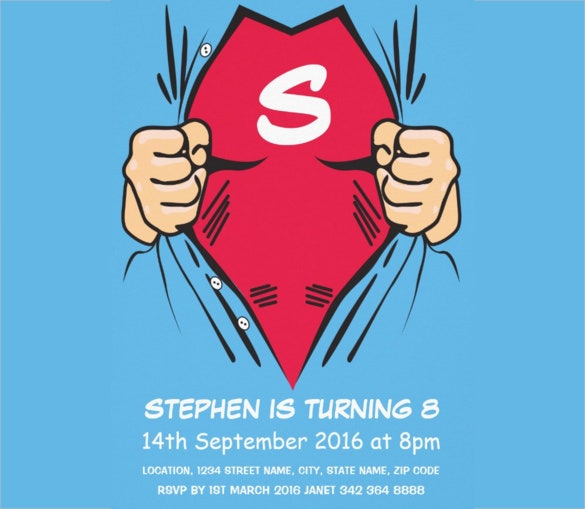30+ Superhero Birthday Invitation Templates - PSD, AI | Free