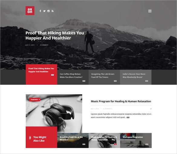 minimalist magazine wordpress theme