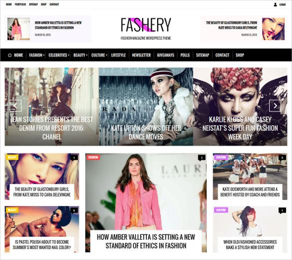 fashion magazine wordpress template