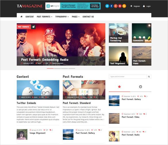 magazine wordpress theme for free download
