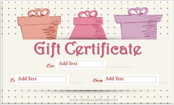 dot background blank gift certificate word template free download