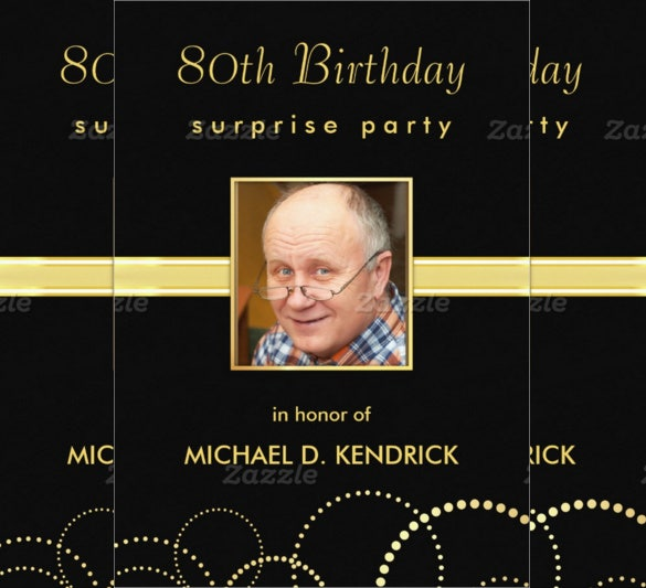 26  80th birthday invitation templates  u2013 free sample