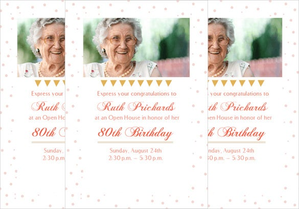 Printable 80 Open House Birthday Party Invitation Template