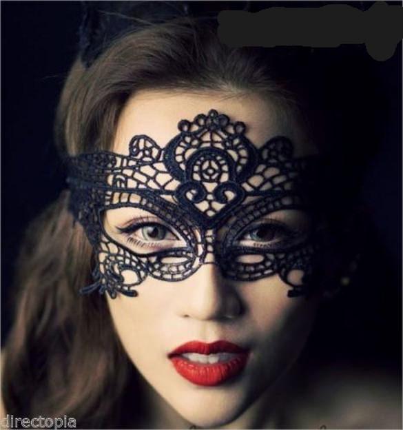 black venetian masquerade eye mask halloween party lace fancy dress