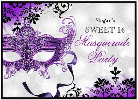 Masquerade invitation template 24 free psd vector eps ai jewel mask damask purple masquerade sweet paper invitation pronofoot35fo Images
