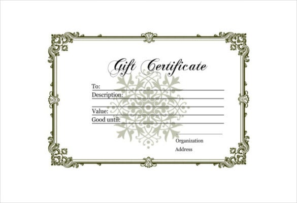 blank gift certificate free pdf template download