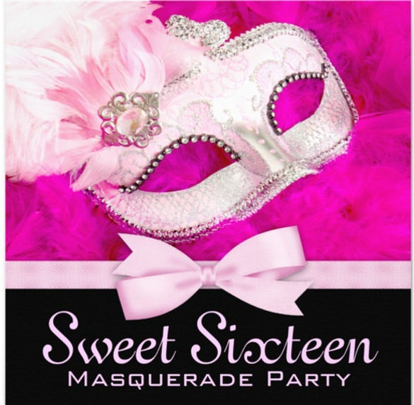Masquerade invitation template 24 free psd vector eps ai hot pink black masquerade party invitations filmwisefo