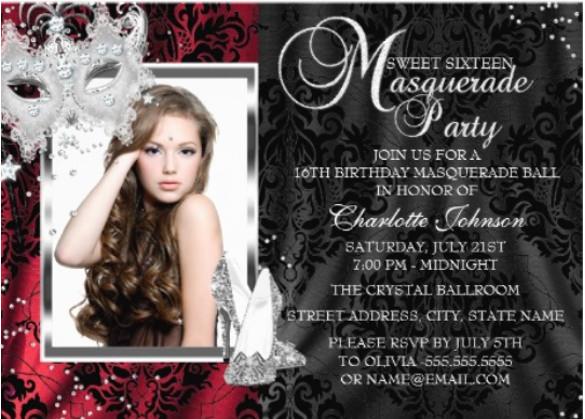 22 Masquerade Invitation Template Free Psd Vector Eps Ai