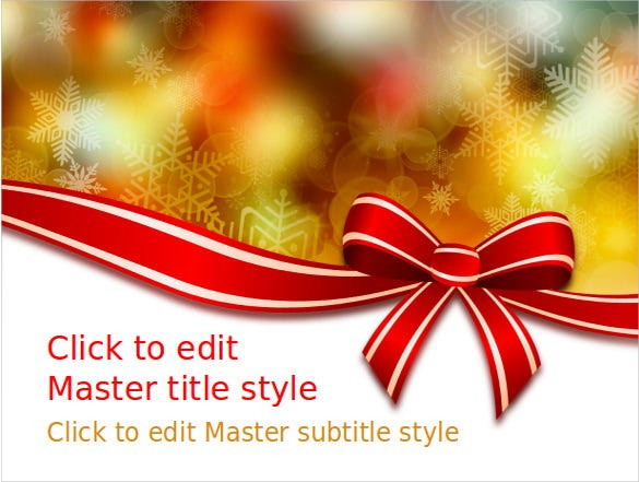 microsoft powerpoint themes christmas