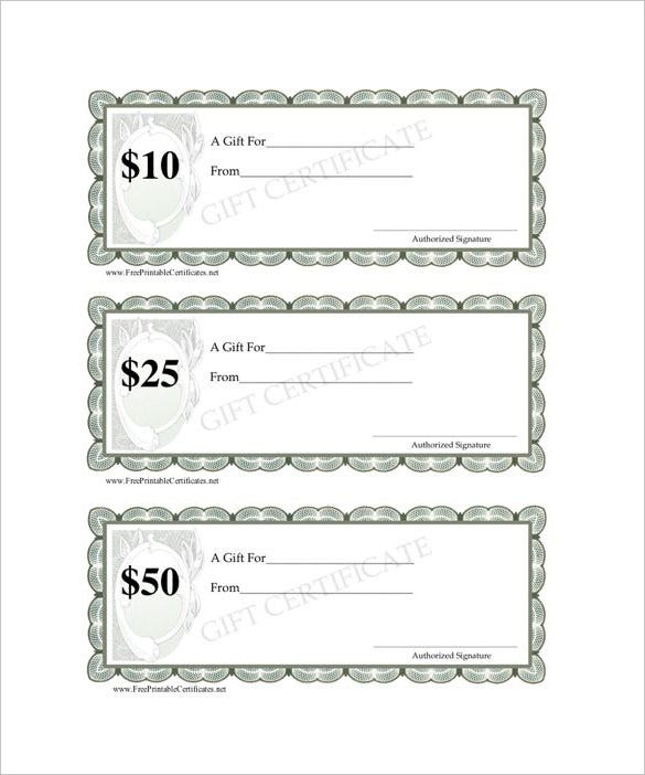 12 blank gift certificate templates free sample for Free downloadable gift certificate templates