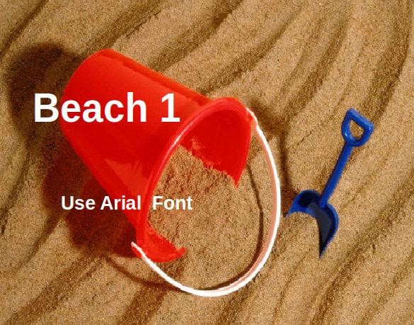 beach backgrount powerpoint template