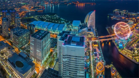 minato mirai city hd wallpaper for free download