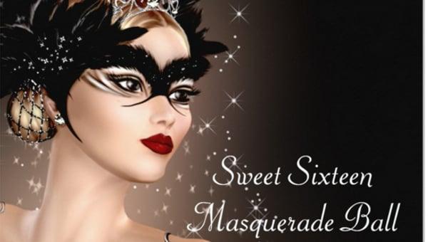 masquerade black invitation for all