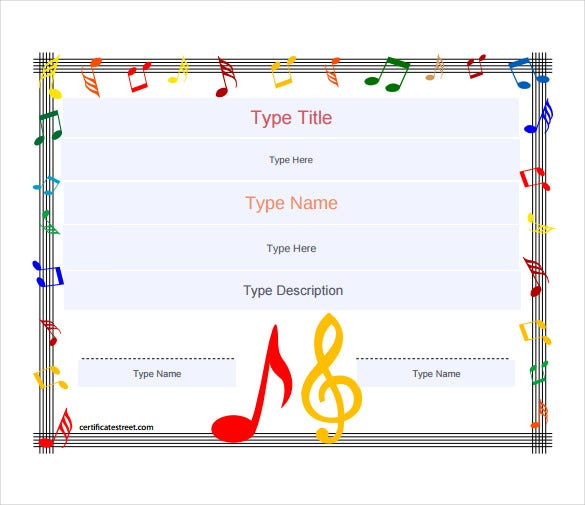 music award blank gift certificate pdf template free download