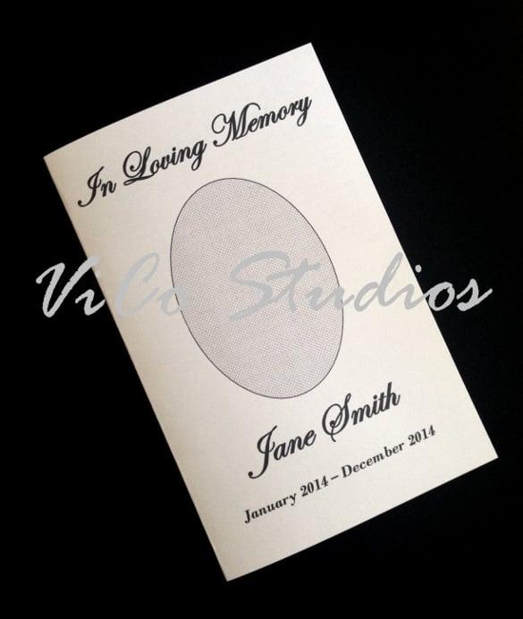 easy printable template funeral program