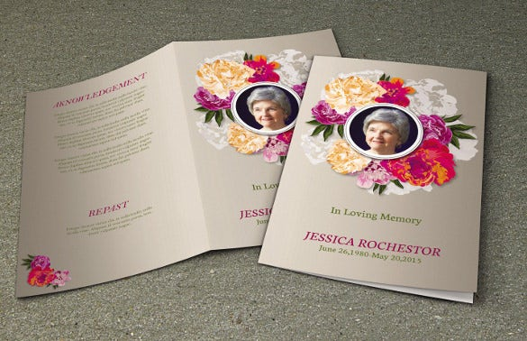 printable funeral program template memorial program obituary program 1