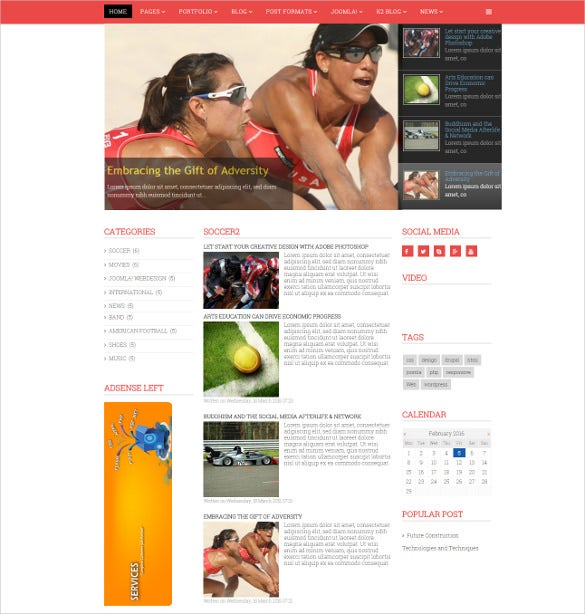 magazine news joomla template