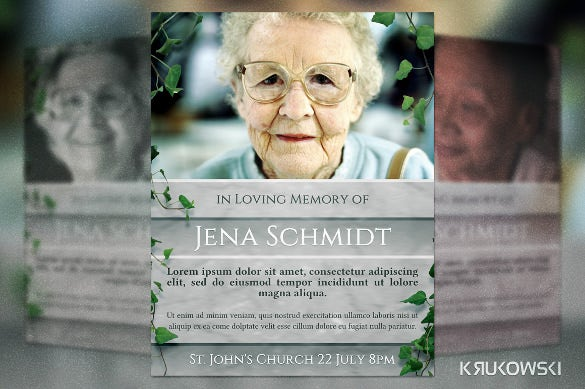 13  funeral invitation templates