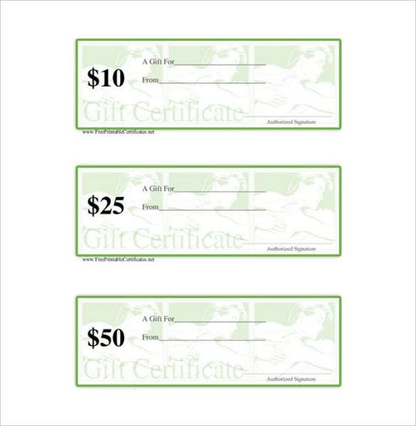 Massage Gift Certificate Template   Free Word Pdf Documents