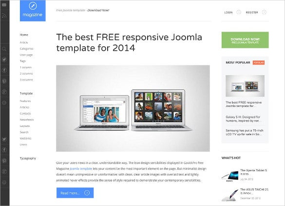 33 magazine joomla themes templates free premium for Free joomla template creator software