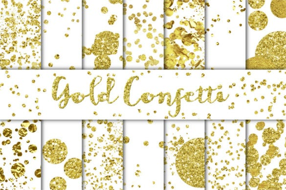 gold confetti backgrounds png format download