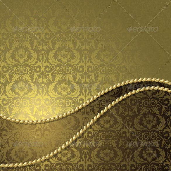 download brown background with gold flowers background