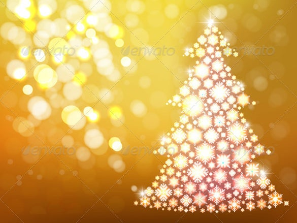 gold background with christmas tree premium download
