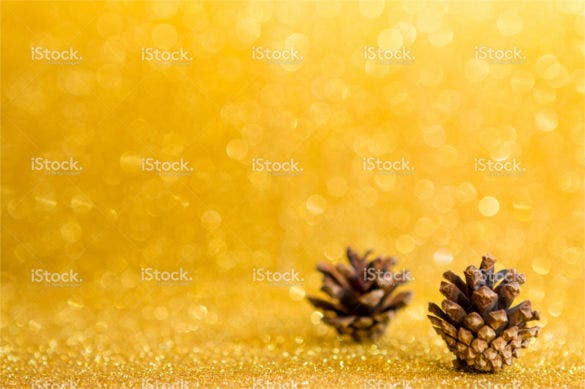 christmas pine cone gold background download