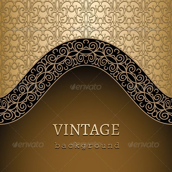 gold ornamental frame background ai illustrator format