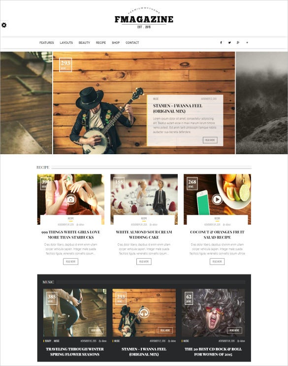 fashion magazine drupal theme