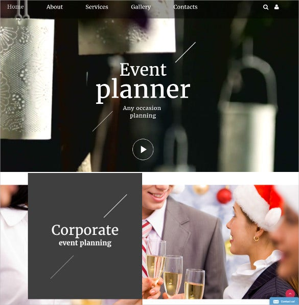 event planner one page bootstrap theme 12