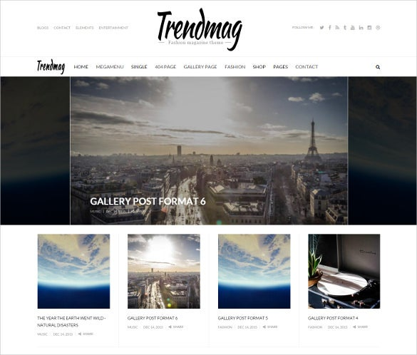 trensy magazine drupal template
