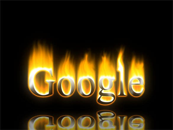 burning google logo background free download