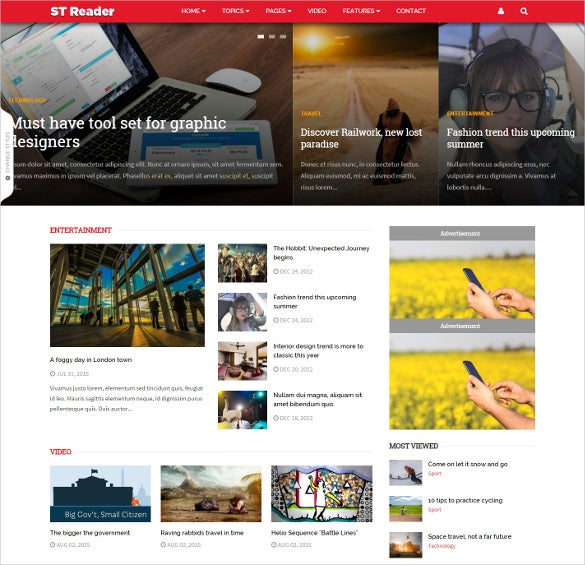 reader news magazine drupal theme