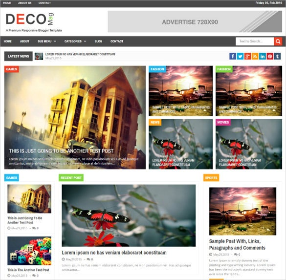 responsive attractive magazine drupal theme