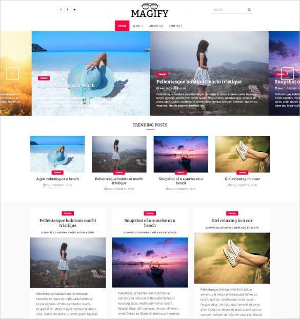 clean fashion drupal magazine theme