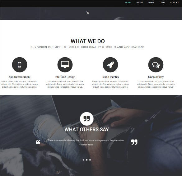dark creative onepage bootstrap theme 25