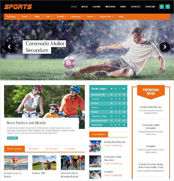 sports magazine drupal template
