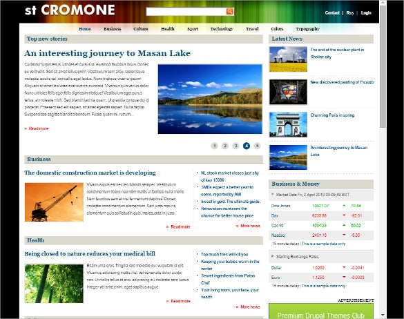 drupal news magazine responsive theme