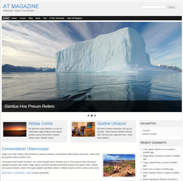 premium drupal theme for magazine