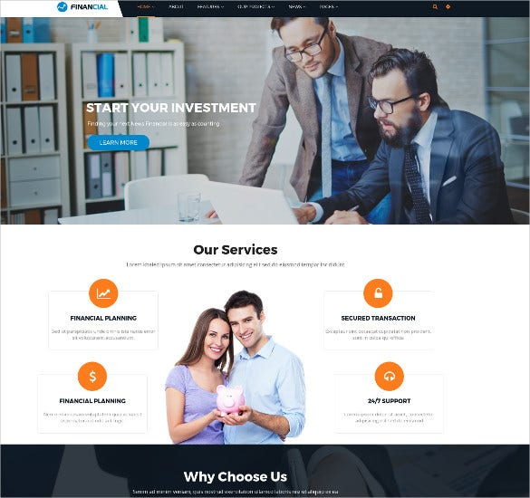 business finance wordpress html5 theme1